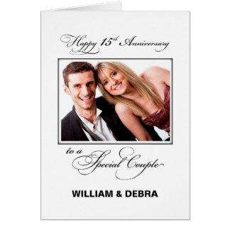15. Hochzeits-Jahrestags-individueller Name u. Karte