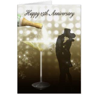 15. Jahrestag - Champagne Grußkarte
