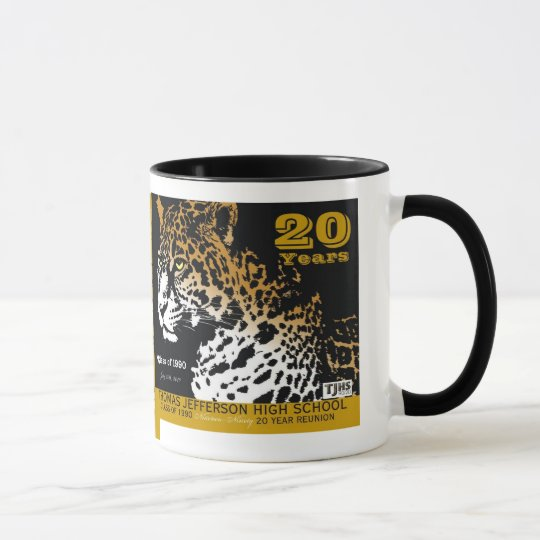 15 Unze TJHS 20 Jahr-Keramik-Tasse Tasse