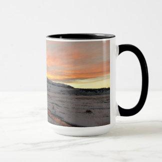 "15 Unze-Wecker-Tasse ""Sonnenuntergang in Tasse"