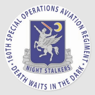 160th STEIGEN NachtJägers-Abziehbildaufkleber an Runder Aufkleber