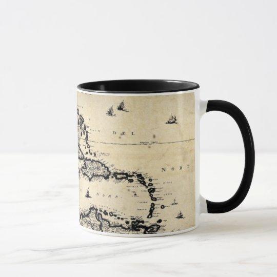 1680 Meer-Karten-Tasse Tasse
