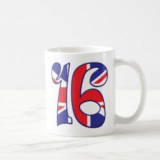 16 Alter Großbritannien Kaffeetasse