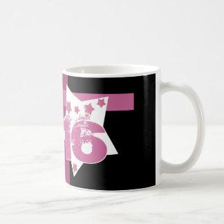 16. Geburtstag oder IRGENDWELCHE Jahr-Sterne V04 Kaffeetasse