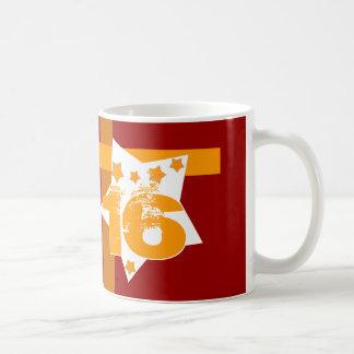 16. Geburtstag oder IRGENDWELCHE Jahr-Sterne V08 Kaffeetasse