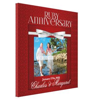 16x16 Jahrestags-Foto-Gewohnheit des Rubin-60. Leinwanddruck
