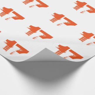 17. Geburtstag für jedermann, orange auf Weiß Geschenkpapier