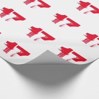 17. Geburtstag für jedermann, rot auf Weiß Geschenkpapier