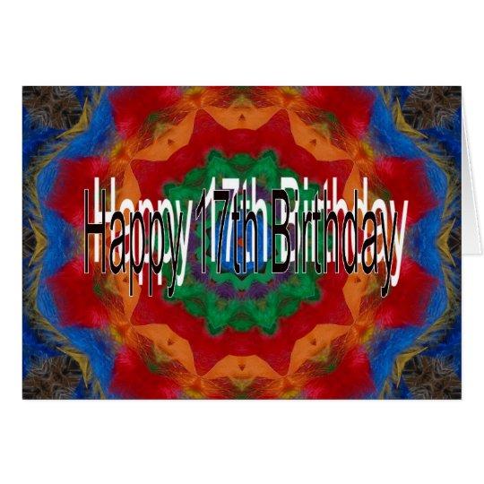 17. Geburtstags-Karte Grußkarte