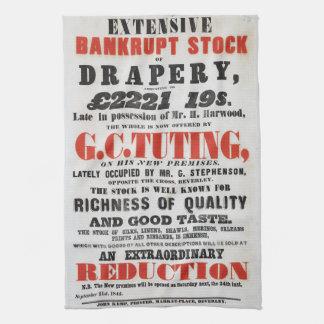 1840s Handzettel-Ähnliches Tee-Tuch Handtuch