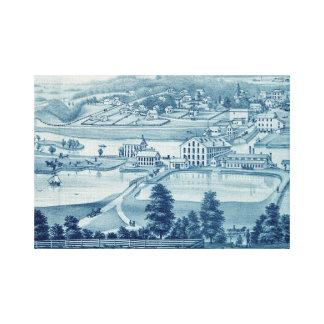 1871 Vogel-Augen-Ansicht Carpentersville Illinois Leinwanddruck
