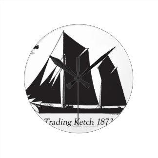 1873 Handelsketch - tony fernandes Runde Wanduhr