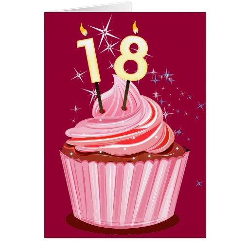 18 geburtstag rosa kleiner kuchen karten zazzle for Kuchen 18 geburtstag