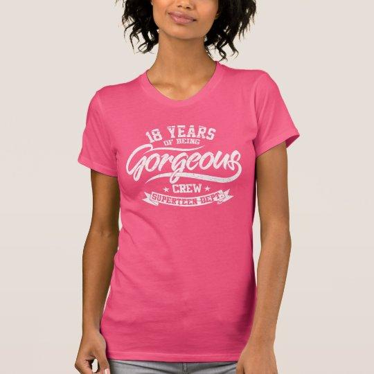 18 Jahre des Seins herrliche Crew (18. Geburtstag) T-Shirt