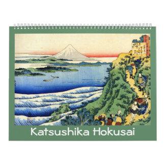 18-monatiger Hokusai Kalender