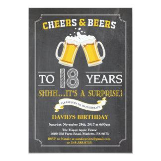 18ème carte d'invitation d'anniversaire carton d'invitation  12,7 cm x 17,78 cm