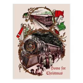 1900s Weihnachtszug-Geschäfts-Weihnachtspostkarte Postkarte