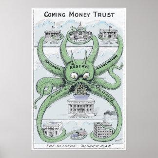 1912 bundesstaatlicher politischer Cartoon der Res Poster