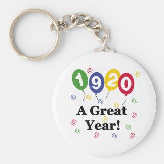 1920 ein großes Jahr-Geburtstag Schlüsselanhänger