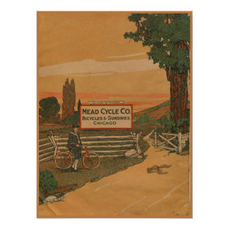 1923 Vintager Met fährt Poster