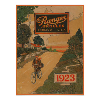 1923 Vintager Met-Förster fährt Poster