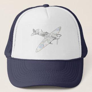 1936 WWII Spitfire-Kämpfer Flugzeug-Farbe Truckerkappe