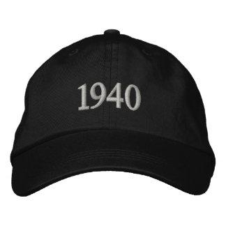 1940 stickte personalisierten justierbaren Hut Bestickte Baseballmützen
