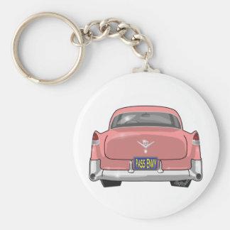 1955 rosa Cadillac Schlüsselanhänger