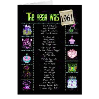 1961 Geburtstags-Spaß-Tatsachen Karte