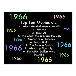 1966 Filme Postkarte
