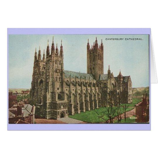 1966 Vintage Postkarten-Canterbury-Kathedrale Karte