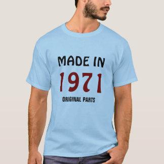 """1971 : """"Fait en 1971, T-shirt de pièces"""