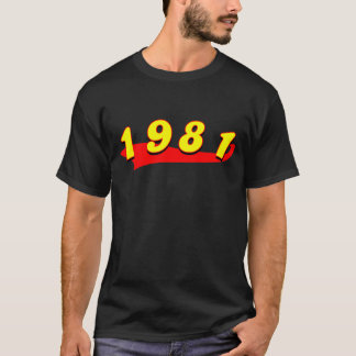 1981 rétros T-shirts
