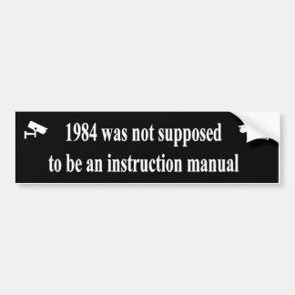 1984 sollte nicht ein Anweisungshandbuch sein Autoaufkleber