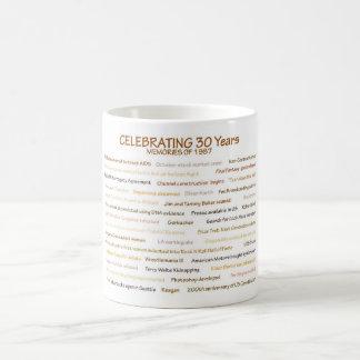 1987 Erinnerungen für 30. Geburtstags-Feier Kaffeetasse