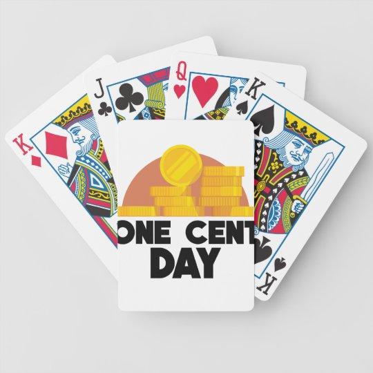 1. April - ein Cent-Tag Bicycle Spielkarten
