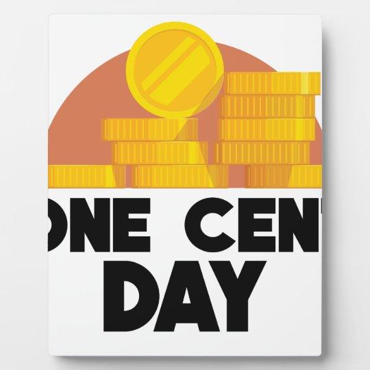 1. April - ein Cent-Tag Fotoplatte