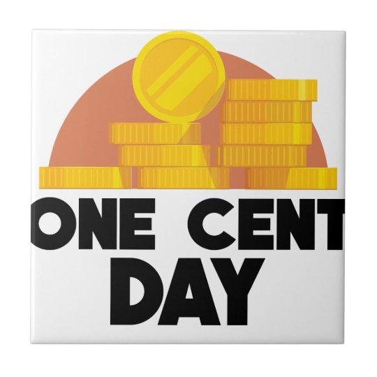 1. April - ein Cent-Tag Kleine Quadratische Fliese