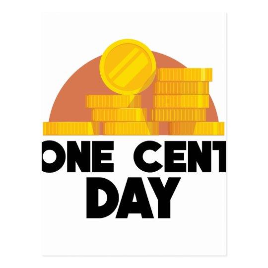 1. April - ein Cent-Tag Postkarte