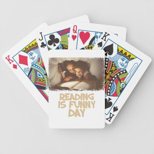 1. April - Lesung ist lustiger Tag Bicycle Spielkarten