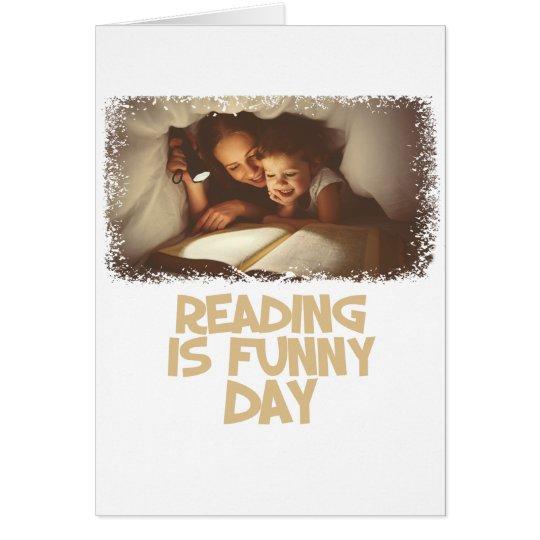 1. April - Lesung ist lustiger Tag Grußkarte