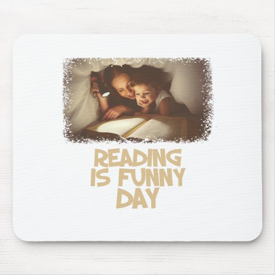 1. April - Lesung ist lustiger Tag Mousepad