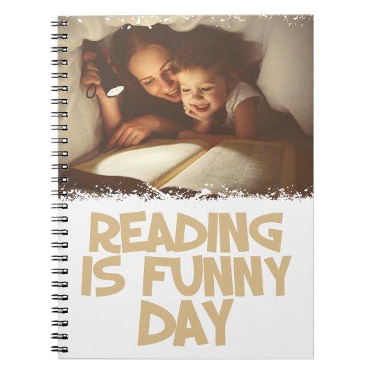 1. April - Lesung ist lustiger Tag Notizblock