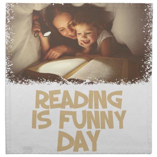 1. April - Lesung ist lustiger Tag Serviette