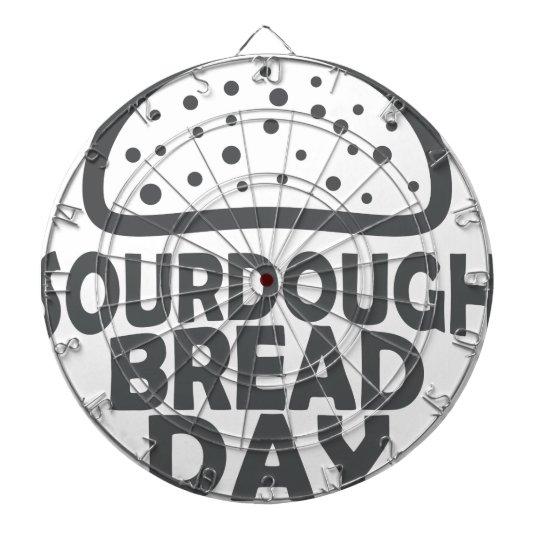 1. April - Sauerteig-Brot-Tag Dart-scheibe
