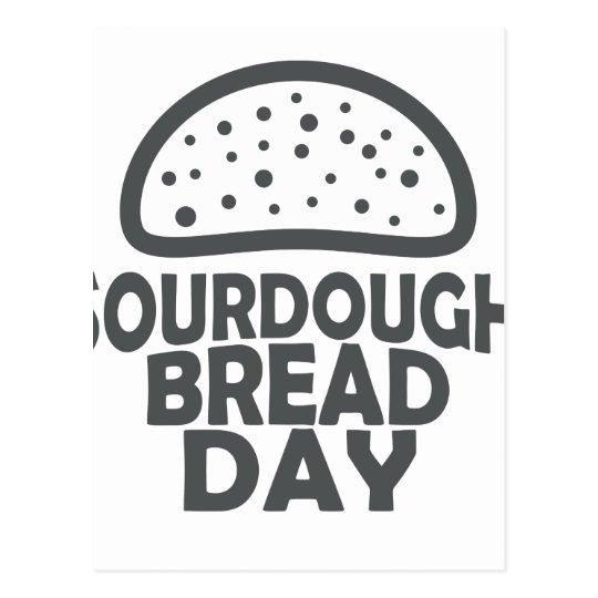 1. April - Sauerteig-Brot-Tag Postkarte