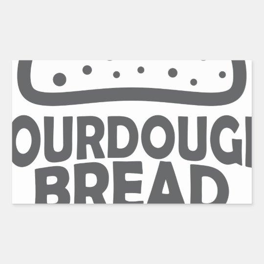 1. April - Sauerteig-Brot-Tag Rechteckiger Aufkleber