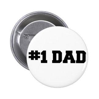 #1 der glückliche Vatertag des Vati-| der Zahl-ein Runder Button 5,7 Cm