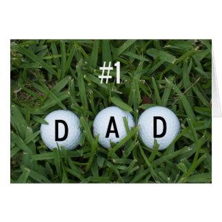 # 1 der Vatertags-Karte Vati- -- Golfbälle für Grußkarte