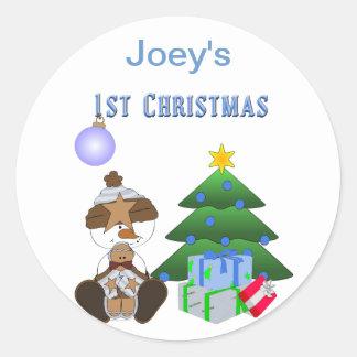 1. Feiertags-Aufkleber des Weihnachten(Junge)